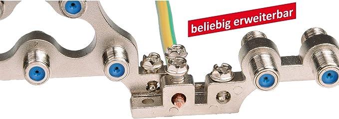 4 Stück Dur Line 14451 4 F Erdungsblock F Verbinder 4 Fach Baumarkt