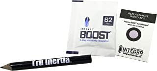 Integra Boost 4g Humidiccant Bulk 62% (36/Pack) – 2-Way Humidity Control Packs – Includes 36 Replacement Indicator Cards and Tru Inertia Pencil