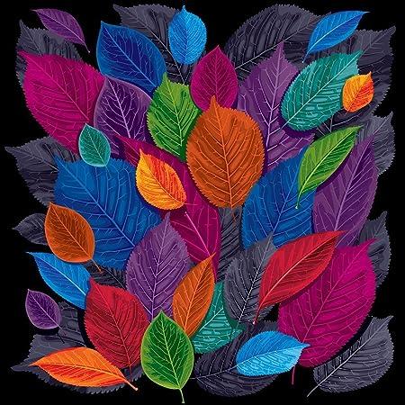 Pitaara Box Dark Autumn Leaves Canvas Painting Mdf Frame 14 X 14Inch
