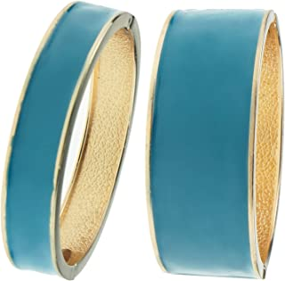 Fashion Statement Bracelet Gold Plated Cuff Hinged 2 Pcs Stackable Bangles Jewelry Gifts for Women 7769-7768