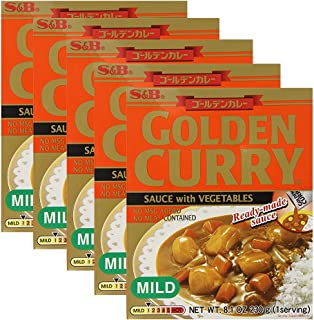 [ 5 Packs ] S&B Golden Curry Sauce with Vegetables Mild 8.10 Ounce