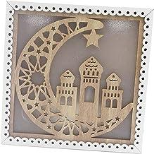 NC Criativo Luz Eid Mubarak Eid Ramadan Lâmpada LED de Cabeceira para Casa de Madeira Decoração Artesanato Ornamentos Fest...