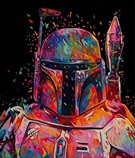 Pintura sin marco por números Diy Star Wars figura pared arte imagen acrílico pintura al óleo para decoración del hogar arte de la pared regalo único 40x50 cm