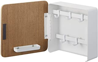 Yamazaki Home Rin Square Magnetic Key Cabinet closet storage and organization systems, One Size, Natural