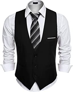 Men's Slim Fit Suit Vest Business Wedding Waistcoat