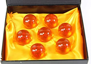 New 7pcs 42MM Large Crystal Acrylic Resin Glass Ball with Gift Box Dragon Transparent Play Balls