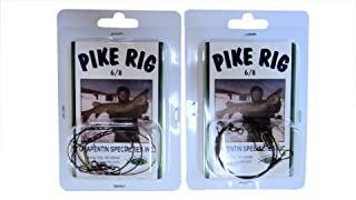 Catchmore Muskie & Pike Rig - #PR68 - Ice, Summer, Tip-up, or Bobber - Size 6 & 8 Treble Hooks - 2 Packs