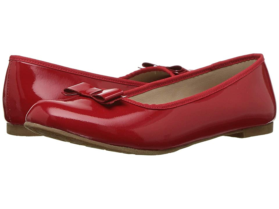 Elephantito Camille Flats (Toddler/Little Kid/Big Kid) (Patent Red) Girls Shoes