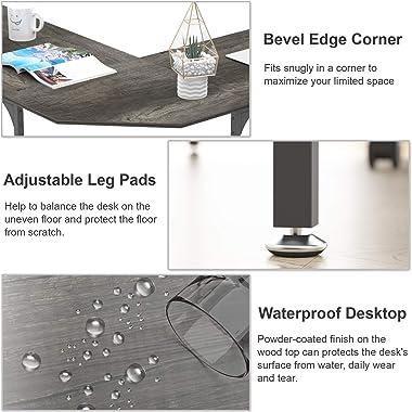 """Elephance 59"""" Large L Shaped Desk Corner Computer Desk Gaming Table Workstation for Home Office"""