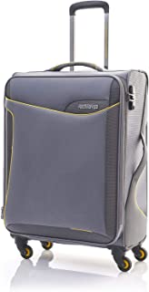 American Tourister Applite Softside Spinner Luggage 71cm with 3 digit Number Lock - Grey