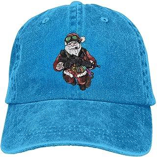 NOBRAND Transpirable Ocio Sombrero,Cómoda Sombrero De Deporte,Secado Rápido Dad Hat,Tactical Santa Claus Santa Claus Unisex Gorras De Béisbol Ajustables De Mezclilla