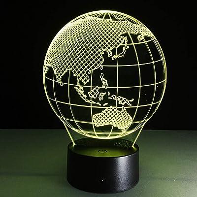 BFMBCHDJ Ilusión visual 3D Lámpara de tanque Luz de noche de acrílico transparente LED hada Lampa Cambio de color Mesa táctil abultamiento lambas Tazón Luz: Amazon.es ...