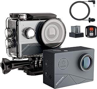 MUSON(ムソン) MAX1 アクションカメラ 4K高画質 40M防水 EIS手ぶれ補正 WiFi搭載 SONYセンサー 170度超広角レンズ 1350mAhバッテリー2個 外部マイク対応 リモコン付き HDMI出力 2インチ液晶画面 アクションカム スポーツカメラ 水中カメラ 防犯カメラ [メーカー1年保証]