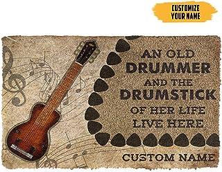 Customized Welcome Doormat 3D Steel Guitars Guitars an Old Guitarist Custom Doormat Front Door Mat Welcome Mat Outdoor for...