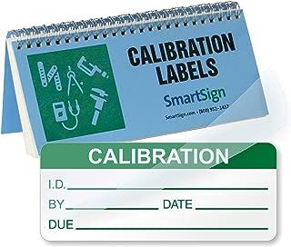 SmartSign Calibration Label Book | 0.625