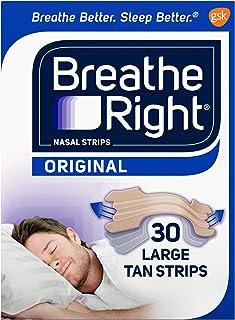 Breathe Right Nasal Strips to Stop Snoring, Drug-Free, Original Tan Large