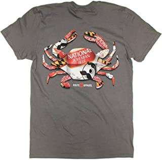 | Natty BOH Can Crab Shirt in Charcoal