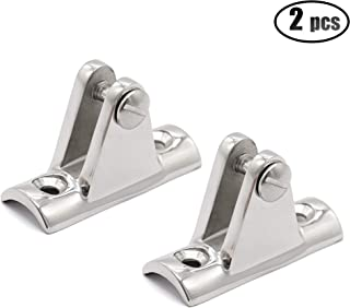 IZTOSS 2PCS Boat Bimini Top Deck Hinges with Quick Pins Marine Stainless Steel with 4pcs Screws