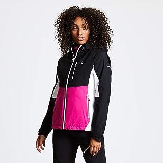 Dare2b Women's DWW471 I4R18L Veritas II' Multiple Pockets Waterproof Shell Jackets, Active Pink/Black, 18