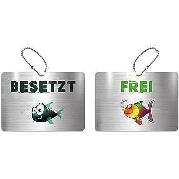 7 KaiserstuhlCard T/ürschild BESETZT FREI Schild Anh/änger Wendeschild Verschiedene Varianten