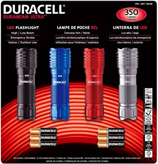 Duracell DuraBeam Ultra 350 Lumens LED Flashligh, 4-Pack with Batteries Included