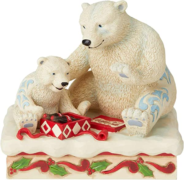 Enesco Coca Cola By Jim Shore Mama And Baby Polar Bears