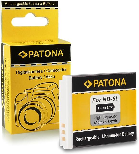 Batería NB-6l Para Canon Digital Ixus 85 IS   95 IS   105   107   200 IS   210   210 IS   300 HS   310 HS   Canon PowerShot D10   D20   D30   S90   S95   S120   S200