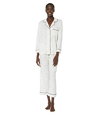 Eberjey Sleep Chic The Long Boxed Pajama Set (Estrella Ivory/Navy Heather) Women