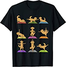 Golden Retriever Yoga T-Shirt Funny Dogs In Yoga Poses Shirt