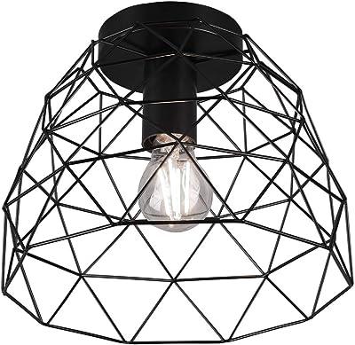 Reality Leuchten Plafonnier Haval R60711032 - Métal noir - Sans 1 ampoule E27