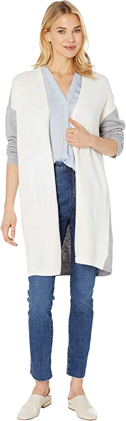 Long Sleeve Color Block Cardigan
