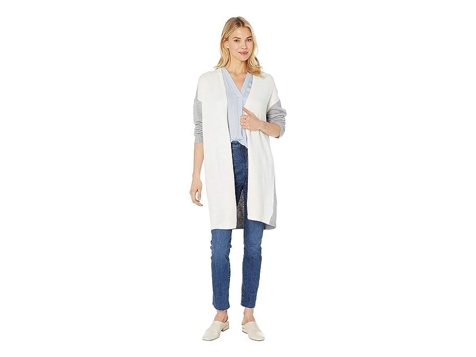 Vince Camuto Long Sleeve Color Block Cardigan (Antique White) Women