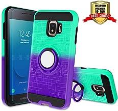 Galaxy J2 Core Case, Galaxy J2 2019 / J2 Dash/Galaxy J2 Pure with HD Screen Protector,Atump 360 Degree Rotating Ring Holder Kickstand Cover Phone Case for Samsung Galaxy J2 Core 2018 Mint/Purple