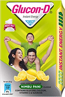 Glucon-D Glucose Based Beverage Mix - 450 g Carton (Nimbu Pani)