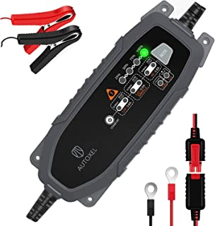 AUTOXEL Trickle Battery Charger for Car Motorcycle 3.8A 6/12V Automotive Battery Maintainer 8 Modes for Vehicle with SLA/WET/MF/FLOODED/GEL/VRLA/AGM/EFB/CA/Lead-acid/LiFePO4/Lithium-ion Batteries