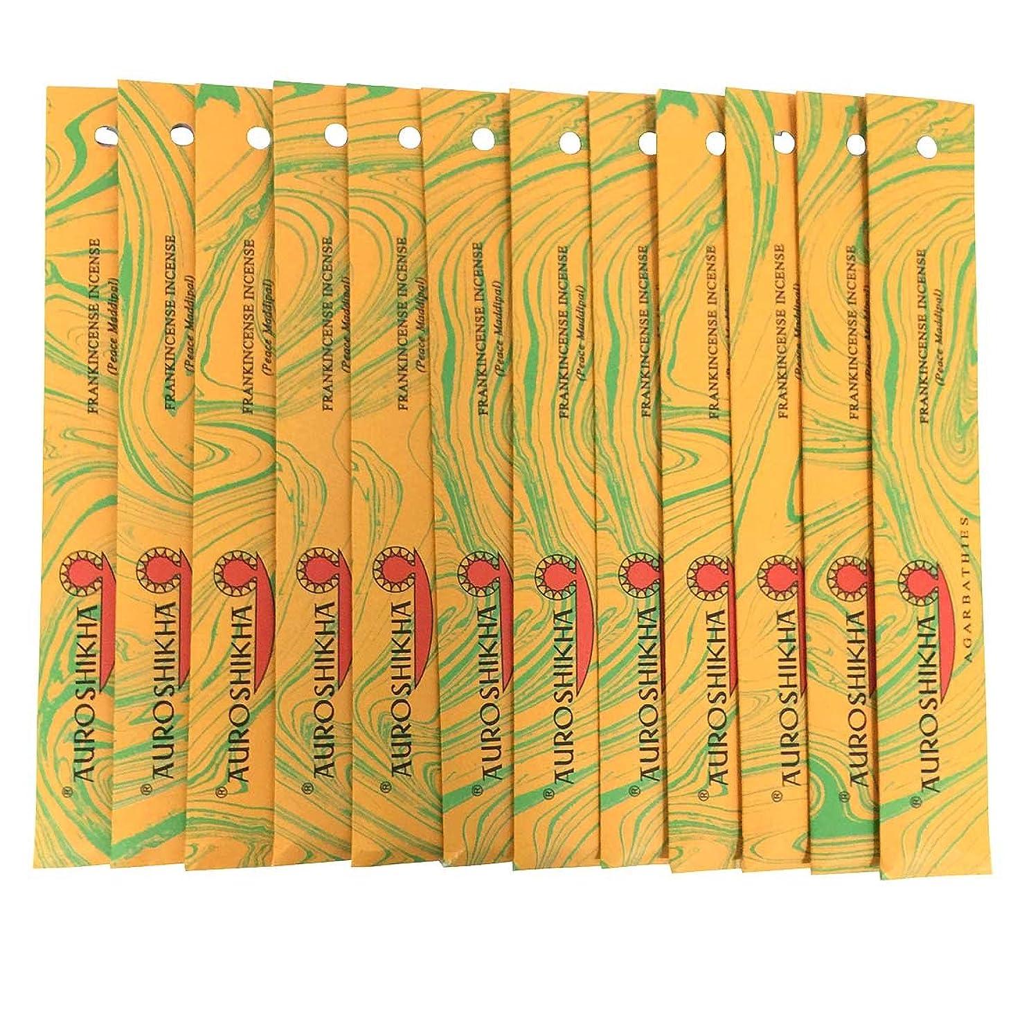 イヤホンパンためらうAUROSHIKHA オウロシカ(FRANKINCENSEフランキンセンス12個セット) マーブルパッケージスティック 送料無料