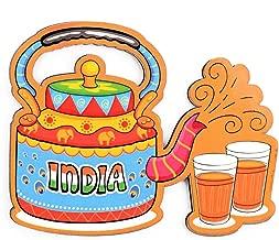 India Souvenir Wooden Fridge Magnet-Indian Chai Fridge Magnet (Multicolour)