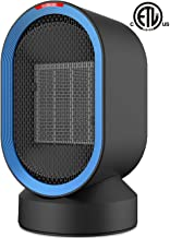 Sendowtek Space Heater 2s Fast Heating Fan Quiet Electric Ceramic Heater for Indoor Office Desktop Use PTC Portable Small Space Heater with Adjustable Thermosta Overheat & Tip-Over Protection for Home
