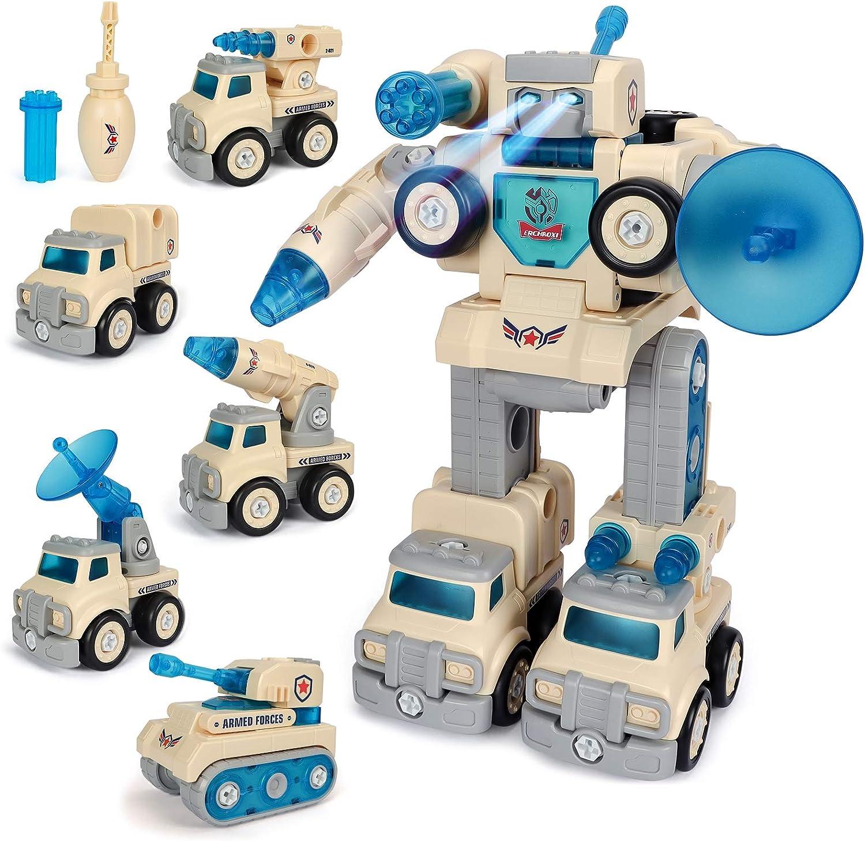 ERCHAOXI 5 in 1 Ranking TOP3 Robot Toys for Outstanding Boys Construction Transf Trucks
