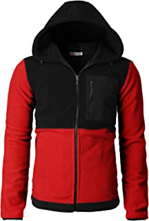 H2H Mens Casual Slim Fit Zip-up Jackets Fleece Active Winter Jackets Thermal
