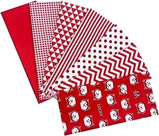 PRETYZOOM Bomull hantverk tyg bunt lappverk röda tyger multifunktion bekväm kreativ sömnad tyg sömnad lapptäcke olika möns...