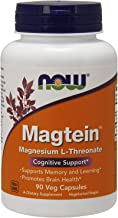 NOW Supplements, Magtein with patented form of Magnesium (Mg), 90 Veg Capsules