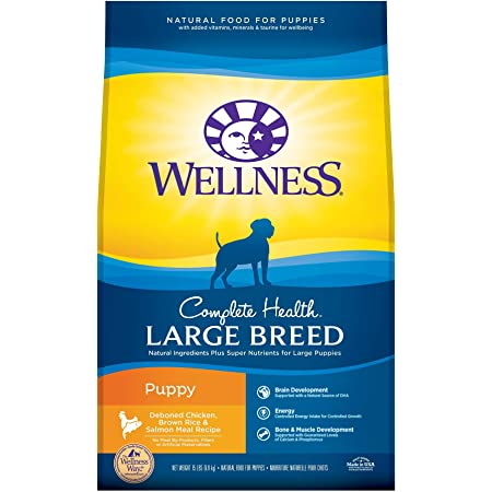 Wellness Complete Health Natural Dry Large Breed Puppy Food, Chicken, Salmon & Rice