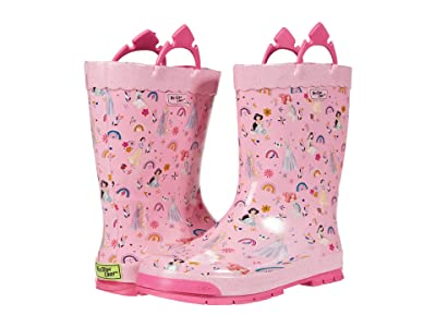 Western Chief Kids Princess Flower Child Boot Rain Boots (Toddler/Little Kid/Big Kid) (Pink) Girls Shoes