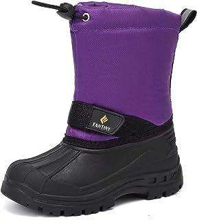 CIOR Boy & Girls Snow Boots Winter Outdoor Waterproof Fur Lined (Toddlers/Kids) US