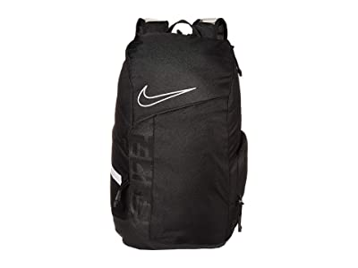 Nike Hoops Elite Pro Backpack (Black/Black/White) Backpack Bags