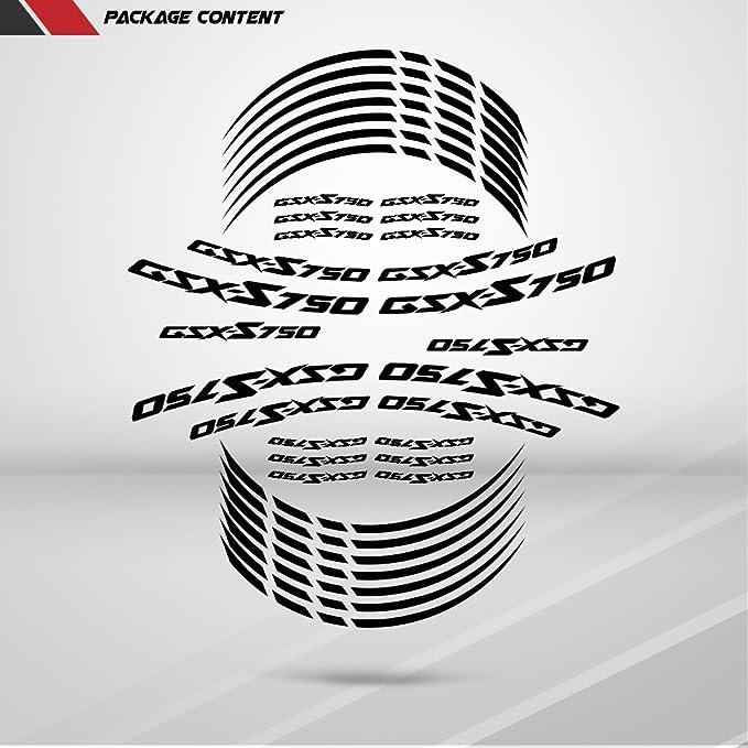 Stickman Vinyls Matt Lila Motorrad Motorradfelge Decal Accessory Aufkleber Kompatibel Mit Suzuki Gsxs 750 Auto