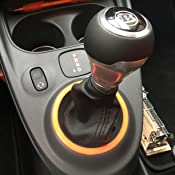 1 Leder Hebel Gaiter Gear Kofferraum Shift Shifter Knauf Cover Für 2014 Up Auto
