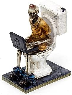 Bella 26706 Skeletons Statue Workaholic Geek Laptop Toilet 4 inch