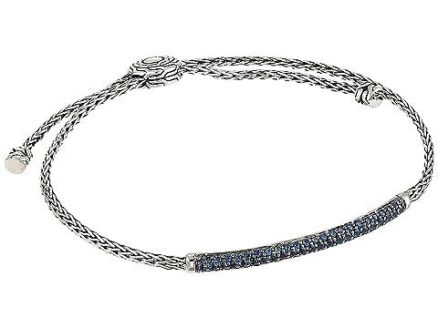 John Hardy Classic Chain 2.5 mm. Mini Chain Pull Through Bracelet with Blue Sapphire